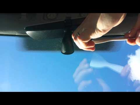 How to remove mount ( w. adhesive tape ) from windshield