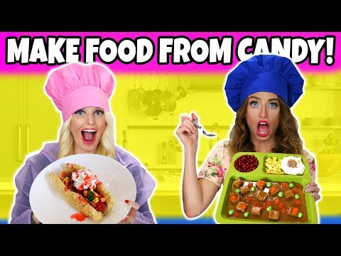 Making FOOD out of CANDY. Make Real Food from DIY Edible Candy Food. Totally TV