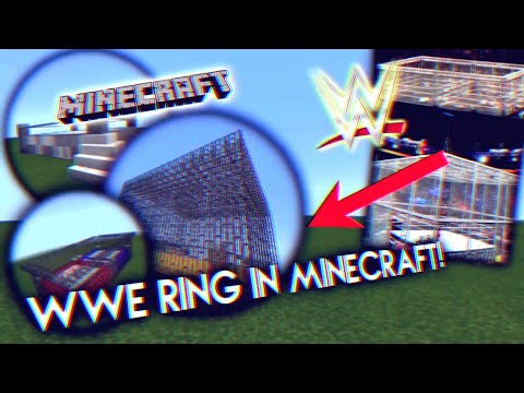 HOW TO MAKE A WWE RING IN MINECRAFT!!