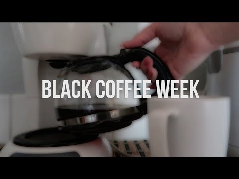 Drinking Black Coffee For A Week | AmyCrouton