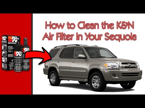 2005 Toyota Sequoia: How to Clean Reusable K&N Lifetime Air Filter