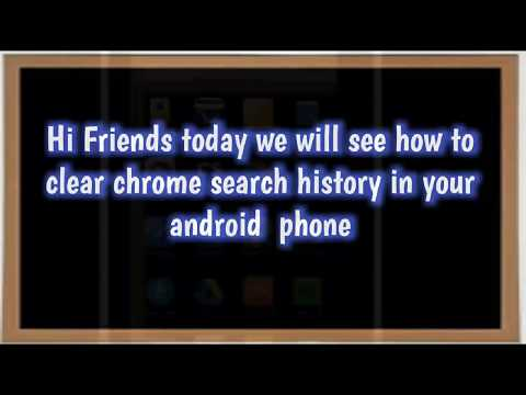 Clear Google Chrome browsing/search History from Android Mobile