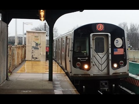 BMT Jamaica Line: Jamaica Center & Brooklyn Bound R143 & R32 (J) Train @ 104th Street