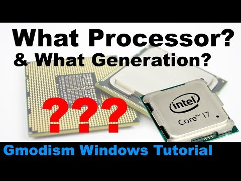 ✅ How to find out what Intel processor you have & What Generation the Intel CPU is [2018]