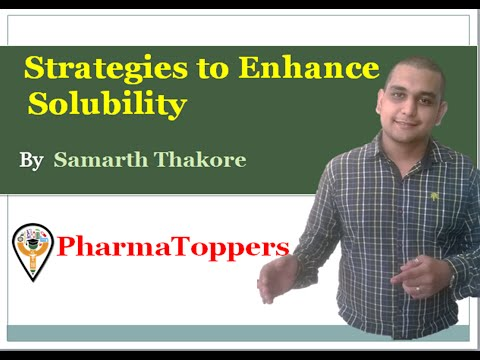 Strategies to Enhance solubility