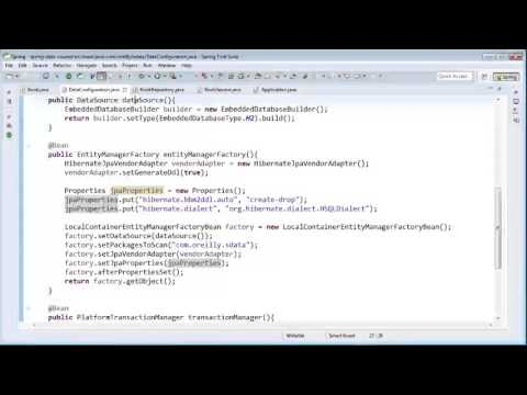 Spring Data for Java Developers | Bootstrapping A Java Configuration