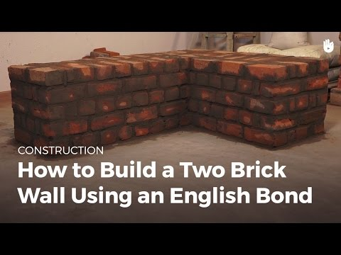 How to Build a Two Brick Wall Using an English Bond | Masonry