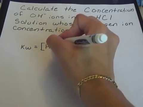 Concentration of Hydroxide Ions in an Acidic Solution