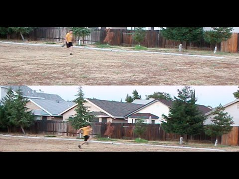 40 yard Split Sprint comparison, 19.8mph / 15.6mph split top speed