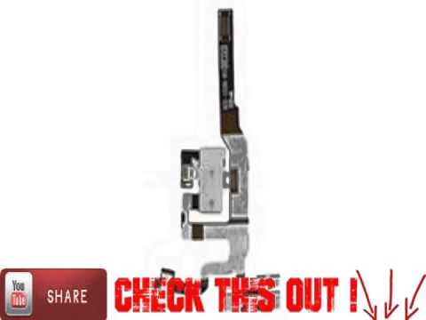 White Headphone Audio Jack Power Flex Cable Replacement for IPhone 4S