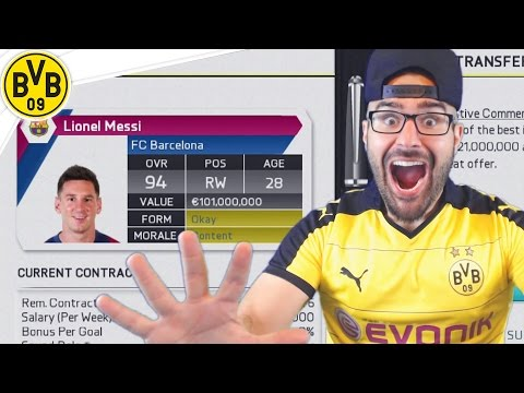 HOLY SH*T MESSI ACCEPTS DORTMUND! Dortmund FIFA 16 Career Mode #14