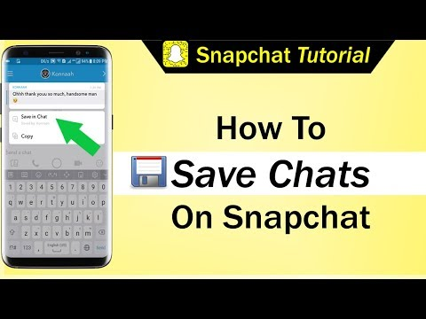 How To Save Chats On Snapchat
