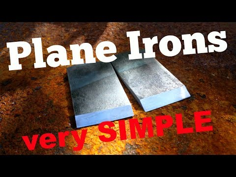 Making SIMPLE Plane Irons from Leaf Spring | Collab with Jörgen Börg