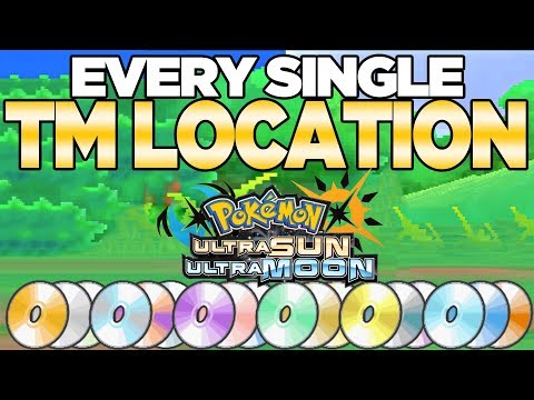 Every TM Location in Pokemon Ultra Sun and Moon | Austin John Plays