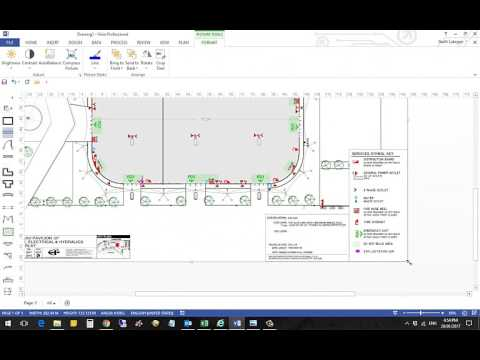 How to use to scale drawings in Visio