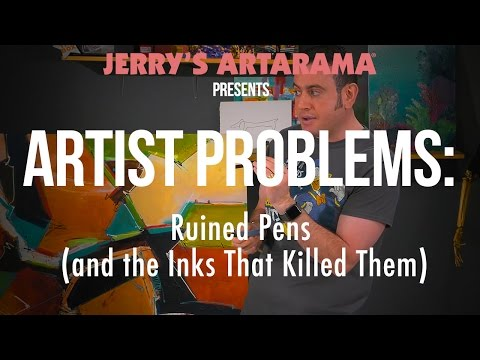 Artist Problems - Ruined Pens (And The Inks That Killed Them)