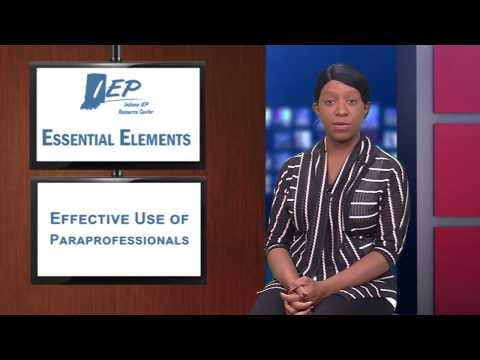 Essential Elements - The Effective Use of Paraprofessionals