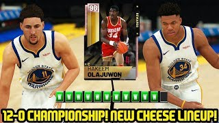 12-0 PINK DIAMOND HAKEEM CHAMPIONSHIP! NEW CHEESE SQUAD! NBA 2K19 MYTEAM GAMEPLAY