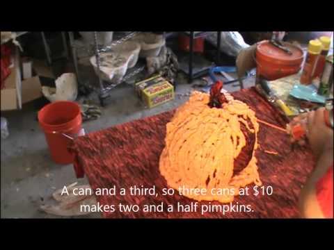 making a pumpkin