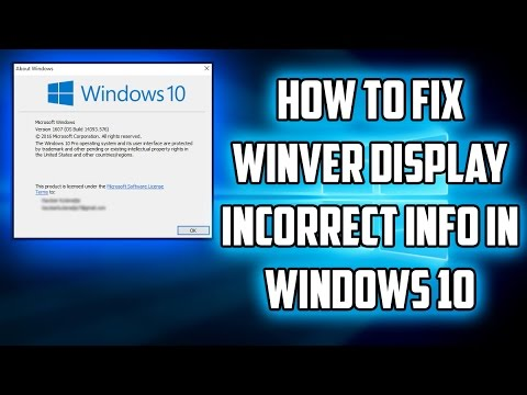 How to Fix Winver Display Incorrect Info in Windows 10