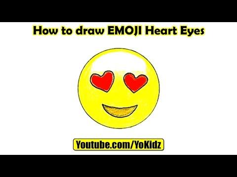 How to draw EMOJI Heart Eyes
