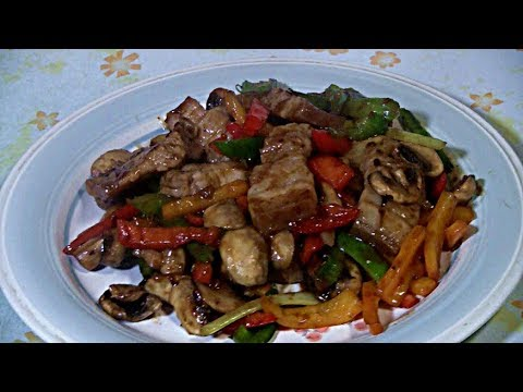 Seared Pork Belly And Veggies Stir Fry  (Wok Stir Fry)  Traditional Chinese Cooking