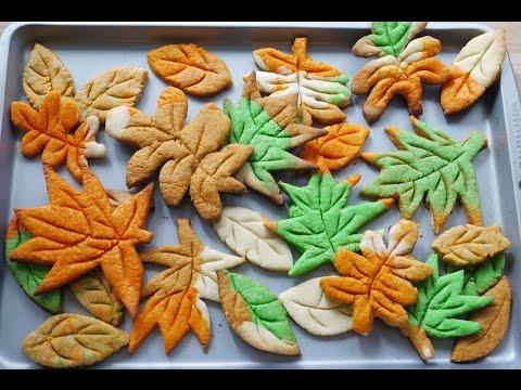 秋葉曲奇  How to make Leaf Cookies (without cookie cutter)