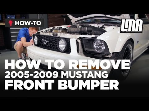 How To Remove Mustang Front Bumper (2005-2009 All)