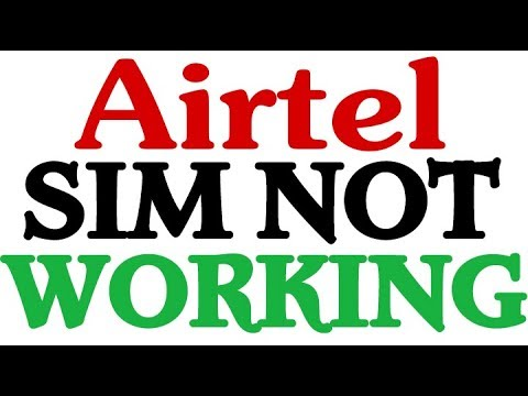 How To Fix Airtel sim not working