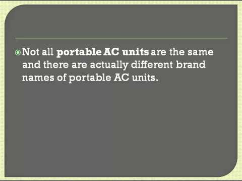 How To Choose A Portable AC Unit