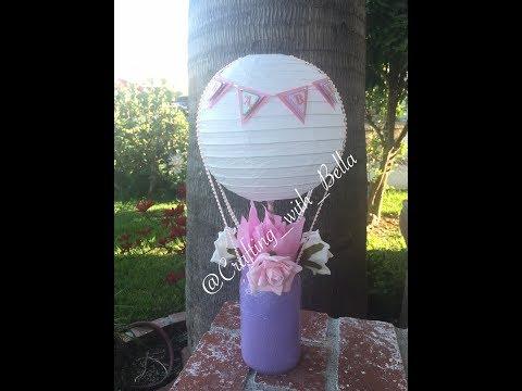 Hot Air Balloon Mason Jar CenterPiece
