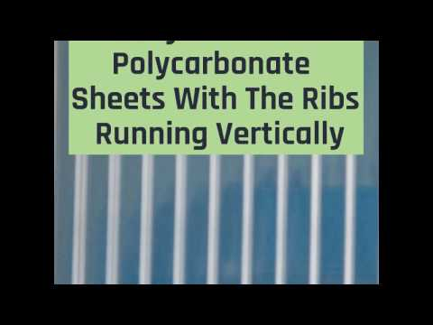 Installing Polycarbonate Sheets Properly