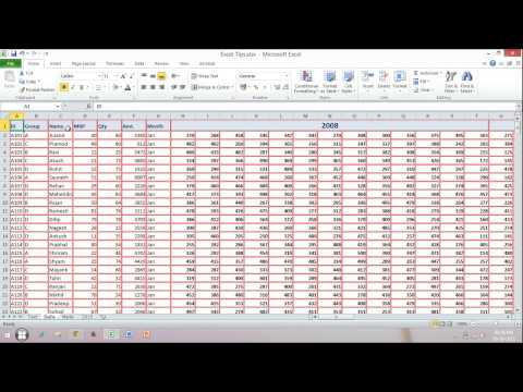 Shortcut Key to Apply or Remove Freeze Panes in Microsoft Excel
