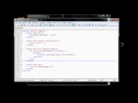 8  Ant Framework Run Target Example (in Arabic)