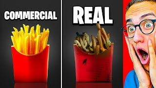 Reacting To SHOCKING COMMERCIALS VS. REAL LIFE!