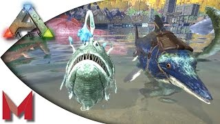 ARK: Survival Evolved   Taming An Icthy And Angler With Sl1pg8r! S2E75  Gameplay