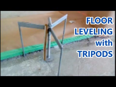 Concrete Floor Leveling Trick with Floor Screed Tripods - Mryoucandoityourself