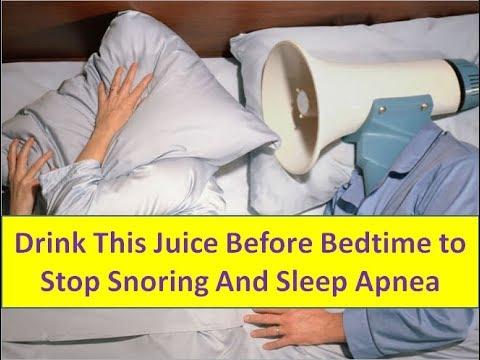 Drink This Juice Before Bedtime to Stop Snoring And Sleep Apnea - Everyday Health