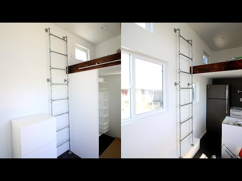 DIY RIGID PIPE TINY HOUSE LADDER