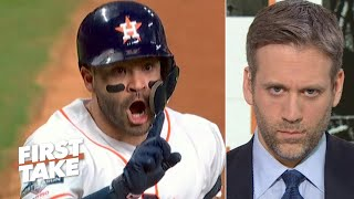 Was Jose Altuve wearing a buzzer? Max Kellerman breaks down video | First Take