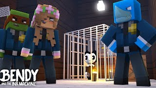 Minecraft BENDY AND THE INK MACHINE GOES TO JAIL - w/ Little Kelly and Tiny Turtle Sharky