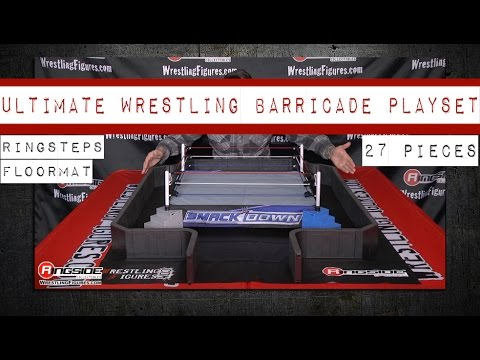 27-Piece Ultimate Wrestling Barricade Playset - Ringside Collectibles Exclusive!