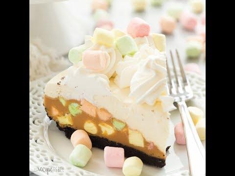 No Bake Peanut Butter Marshmallow Square Cheesecake Recipe
