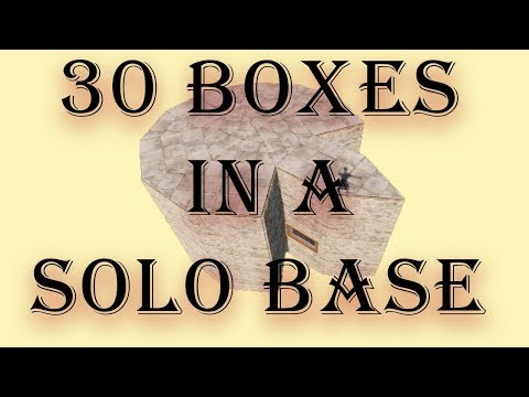 30 BOXes in a Solo  Base I Rust Base Design Tutorial I Building 3