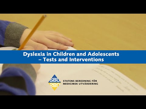 Dyslexia in Children and Adolescents – Tests and Interventions