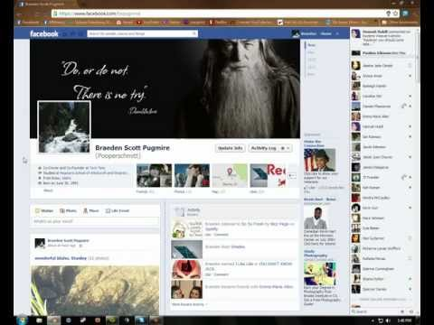 changing facebook timeline and getting your settings stet-up
