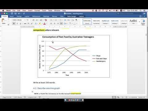 A2   Describe one line graph