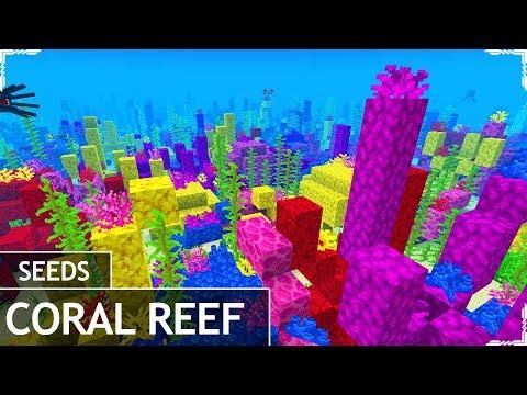 Minecraft PE 1.4 Seeds - CORAL REEF AT SPAWN SEED - Minecraft PE / MCPE 1.4