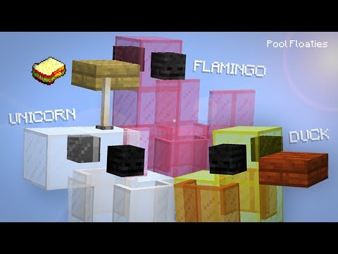 Minecraft, MCPE | How to make a Working Pool Floaties