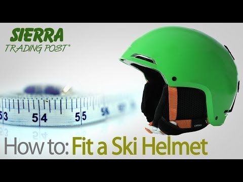 How to Fit A Ski Helmet